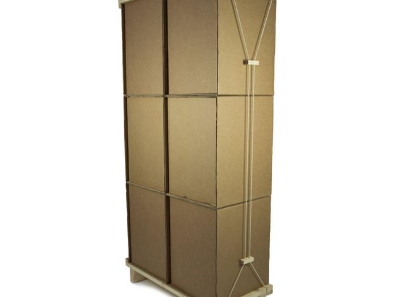 Kast van kartonnen dozen   Interieurjournaal com