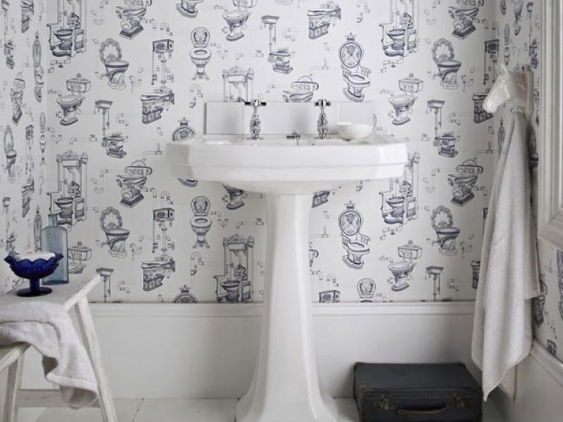 Behang Voor Toilet : Voor de wc toiletbehang interieurjournaal